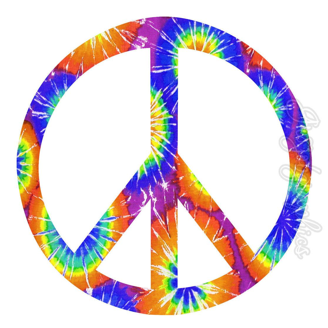 Peace Sign Tie Dye Wall Decal Wall Art Love Peace Peel and Stick Wall Sticker PC11 Wall Art Home Decor Vintage Retro Hippie 70s by VWAQ on Etsy