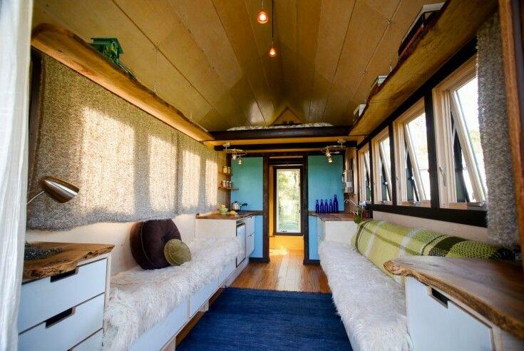 Streamline interior of tiny house...appears spacious!