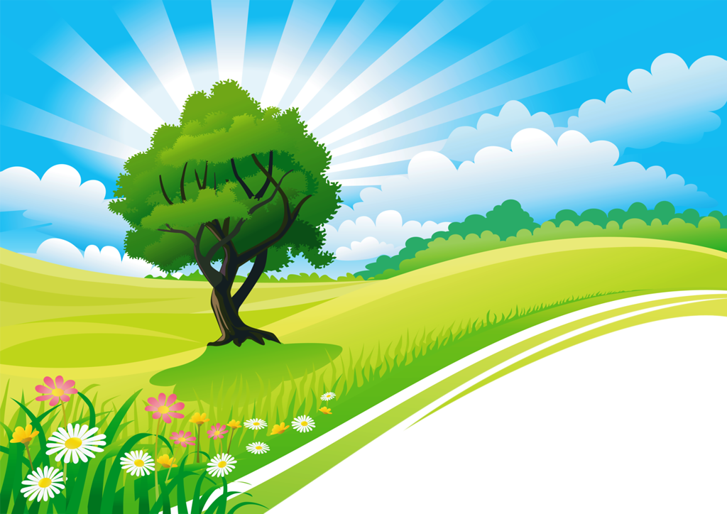 vector cartoon landscape backgroundsfree - photo #13