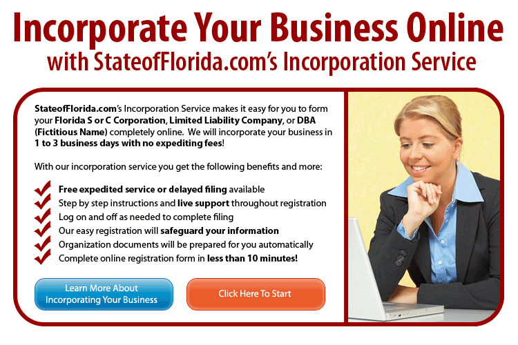 State of Florida LLC Incorporation