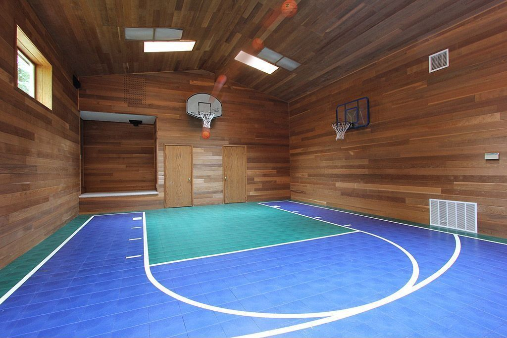 Rustic Home Gym With Carpet Flush Light Indoor Sports Tiles Home Basketball Court Gym Room At Home Zillow Digs