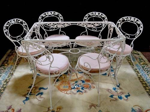 vintage chantilly rose woodard sold di wrought iron furniture