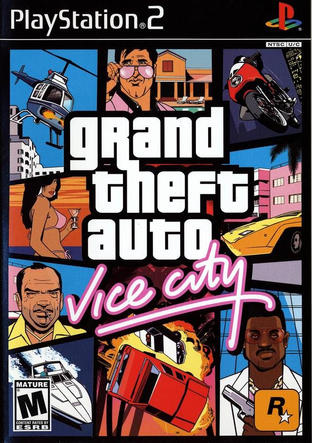 Grand Theft Auto Vice City Sony Playstation 2 Game Grand Theft