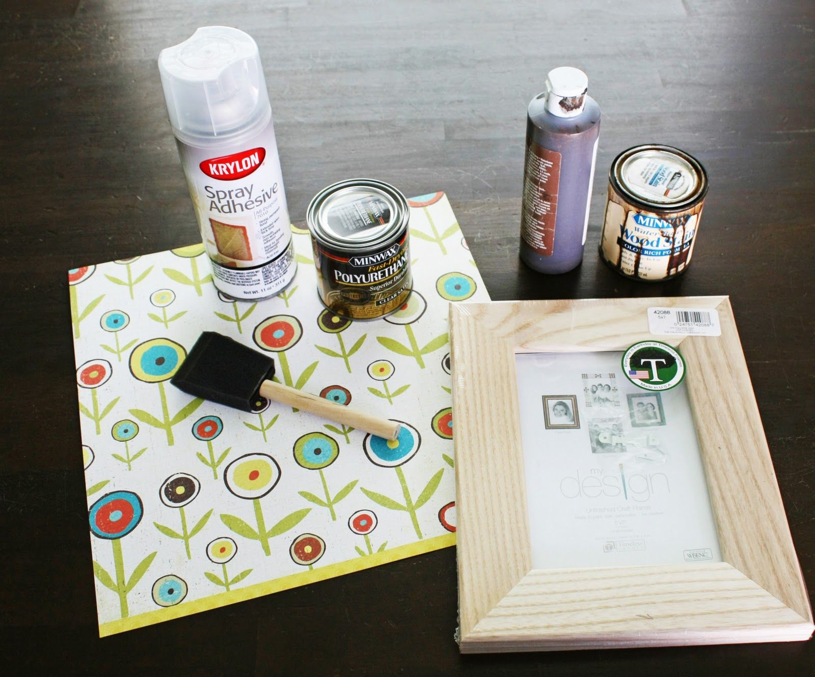 Using Paper to Decorate a Frame   Not JUST A Housewife   DIY ...