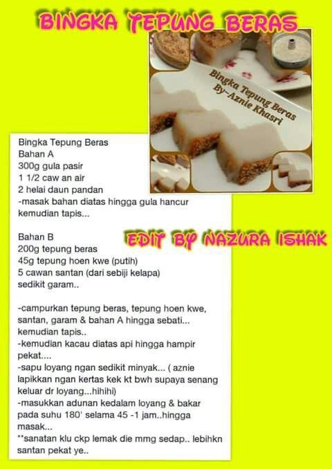 Bingka Tepung Beras Beras Food