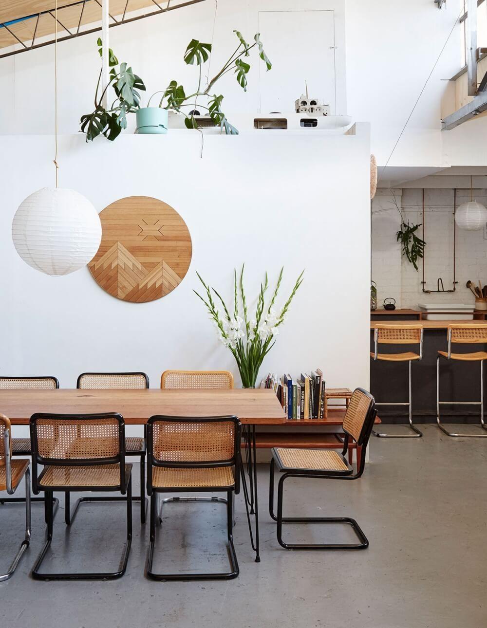 Arten von esszimmermöbeln natürliche materialien und volumenspiele in   innendekoration