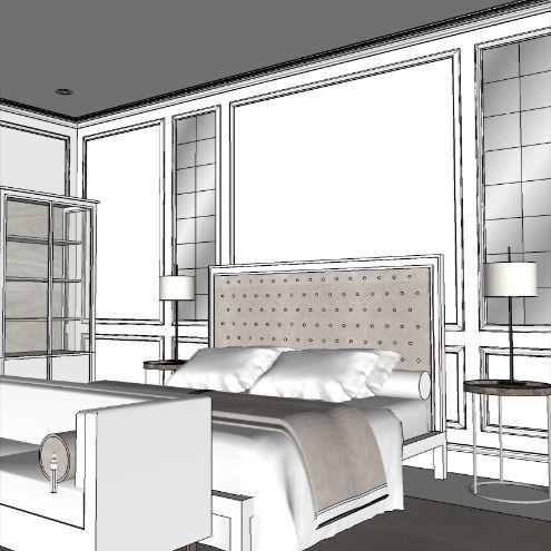 #bedroominspiration #homeinspiration #bedroom #mirroredwall