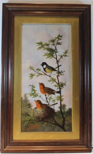 Signed Michelangelo Meucci Painting of 3 Song Birds in a Tree No Reserve https://t.co/YZK7z494x5 https://t.co/Cog7QsMj5m
