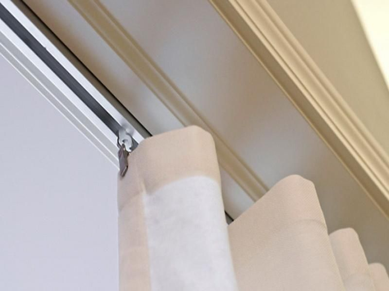 Ceiling-mounted curtain rail on Pinterest | Ikea, Gliders and Ceiling Curtains
