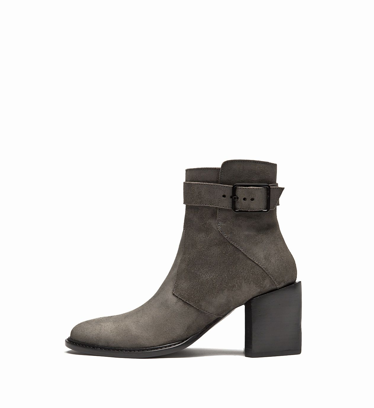 HELMUT LANG _ OILED SUEDE BUCKLE BOOT