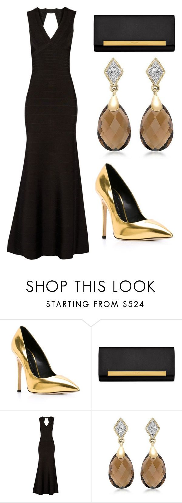 """""""Outfit Idea by Polyvore Remix"""" by polyvore-remix ❤ liked on Polyvore featuring Giuseppe Zanotti, Yves Saint Laurent and Hervé Léger"""