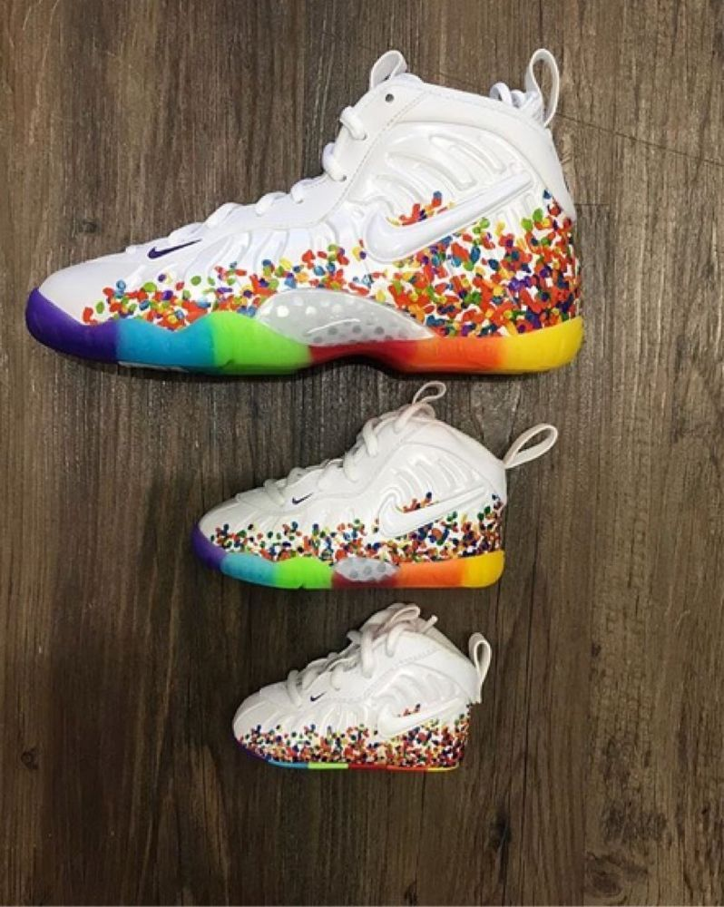 155d0fffb27 NIKE LITTLE CEREAL FRUITY PEBBLES FOAMPOSITE PRO SNEAKER TODDLER SIZE  5C-10C  Nike  Athletic