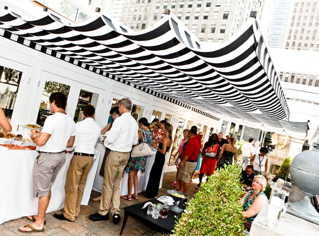 Retractable Deck Shade | Retractable Patio Cover At Rockefeller Center |  ShadeFX Canopies
