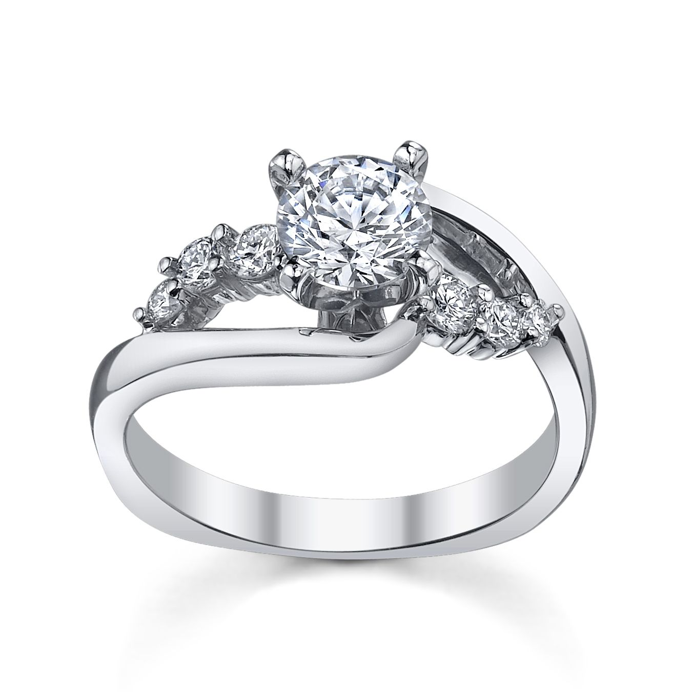 Modern Wedding Rings - Modern engagement ring from robbins brothers