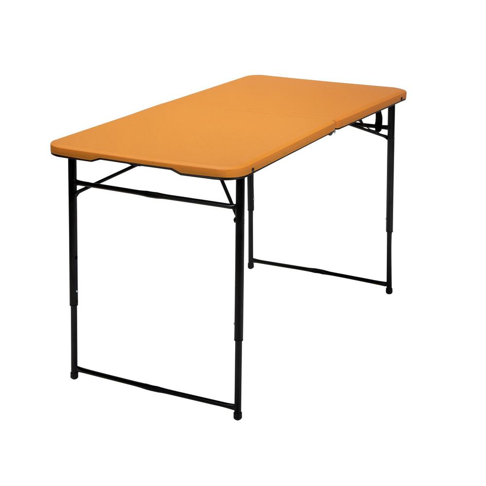 Cosco 48 In Black Plastic Portable Folding High Top Table