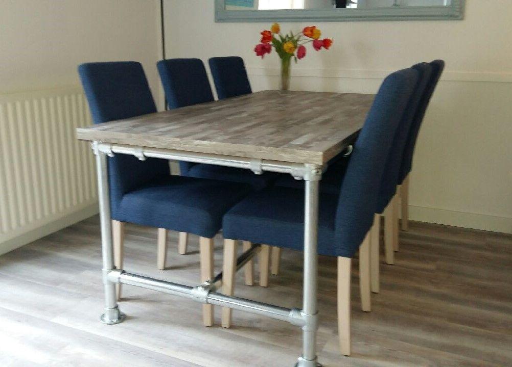 Steigerbuis Tafel Onderstel : Steigerbuis tafel tuva steigerbuizen meubelen exclusieve