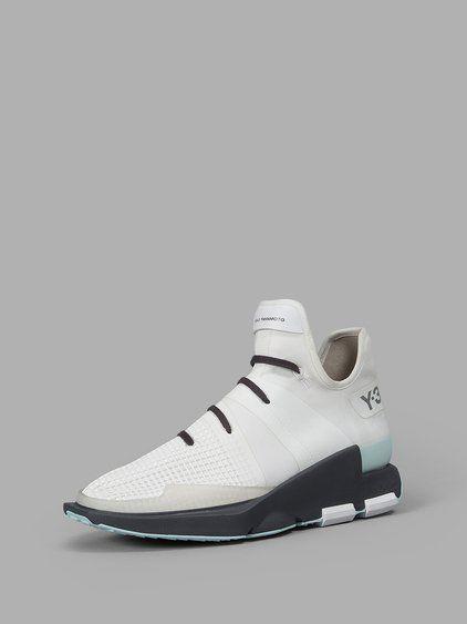 Y-3 Y-3 MEN'S WHITE SNEAKERS. #y-3 #shoes #sneakers