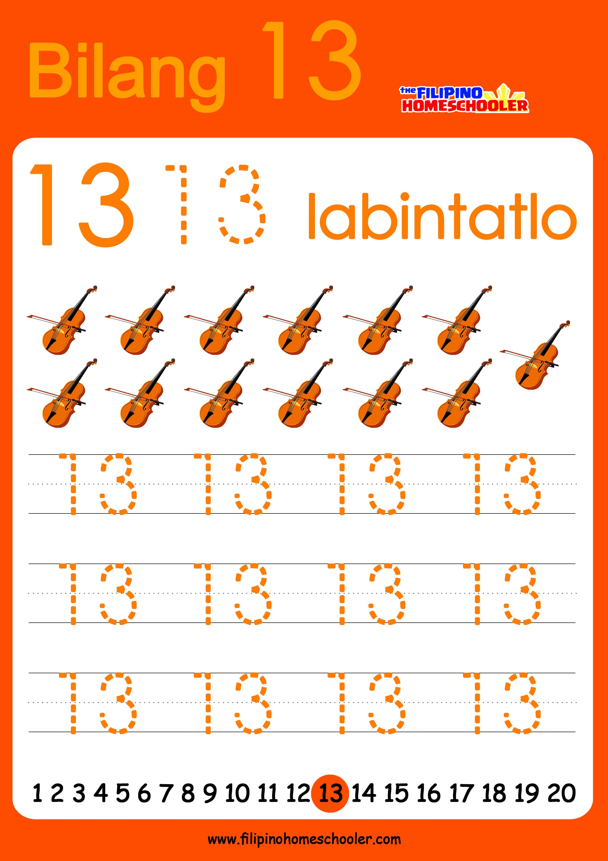 Free Filipino Numbers Worksheets From 11 20