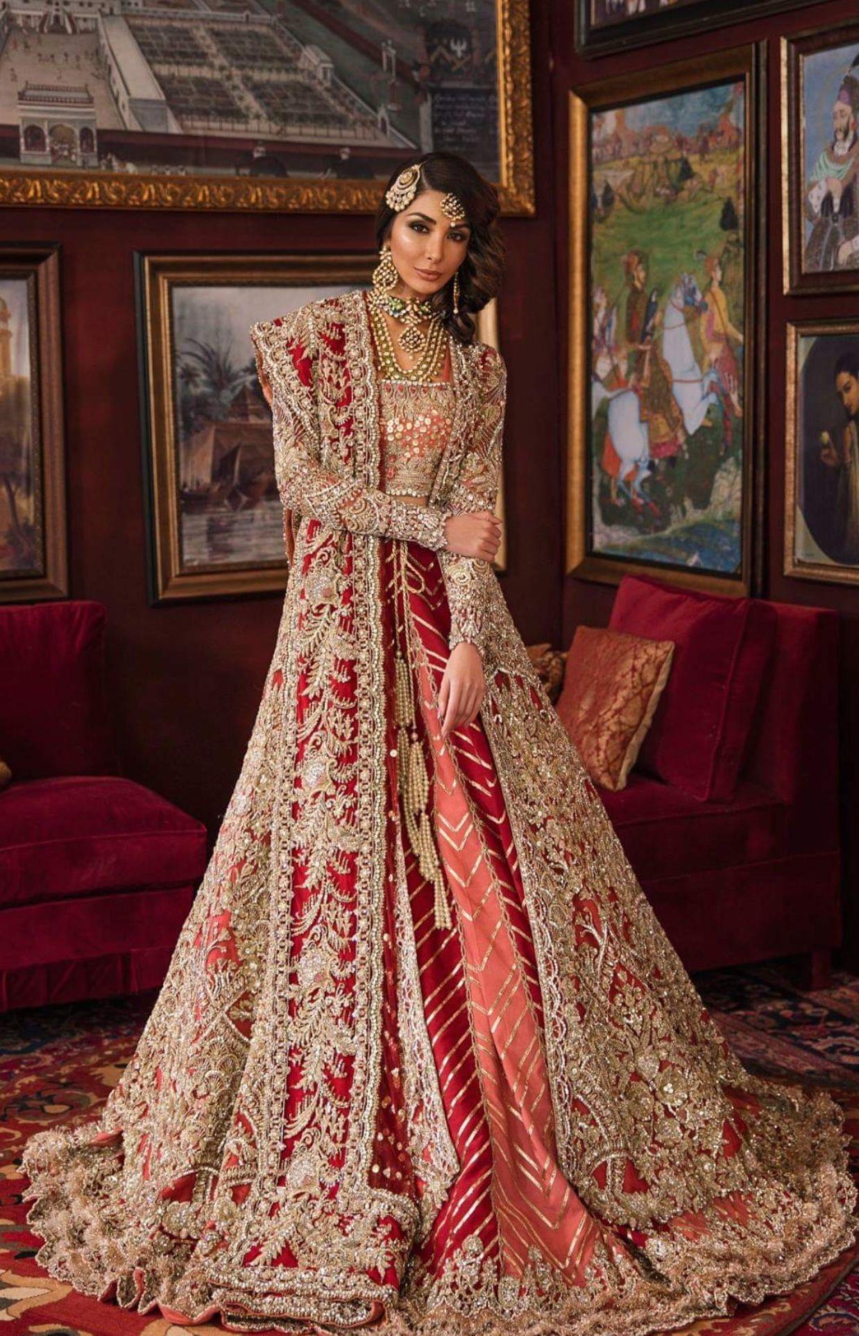 Brown tingz by hibah magdum asian bridal dresses red