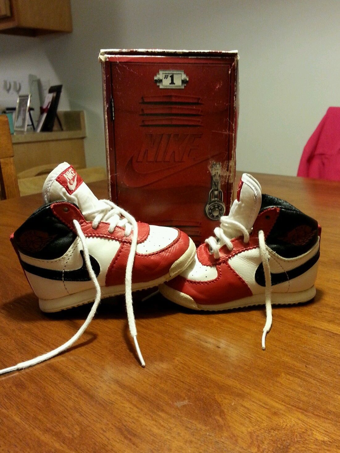 the latest e8b84 d4650 OG VINTAGE 1985 infant baby nike air michael jordan 1 ...