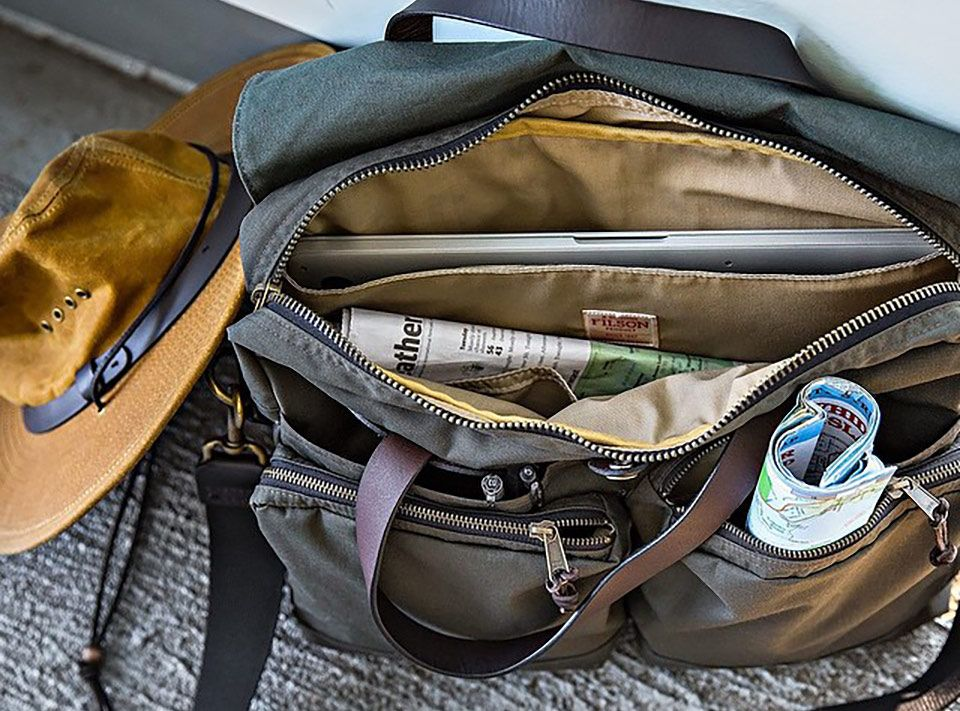 Filson 24 Hour Tin Briefcase Otter Green Perfect Bag With Style And Character Filson Bags Mens Fashion Rugged Bags