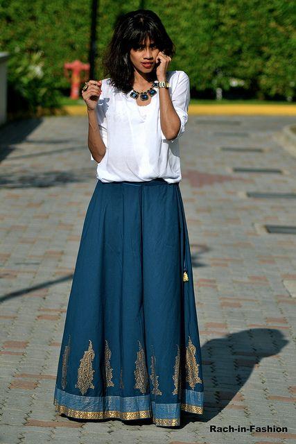 f1125b8522 Lovely blue skirt from Fabindia | Skirts | Fashion, Indian skirt ...