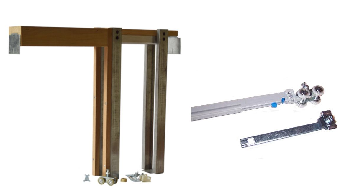 2450 Series Single Pocket Door Frame Kit With Soft Close Pocket Doors Pocket Door Frame Pocket Door Hardware