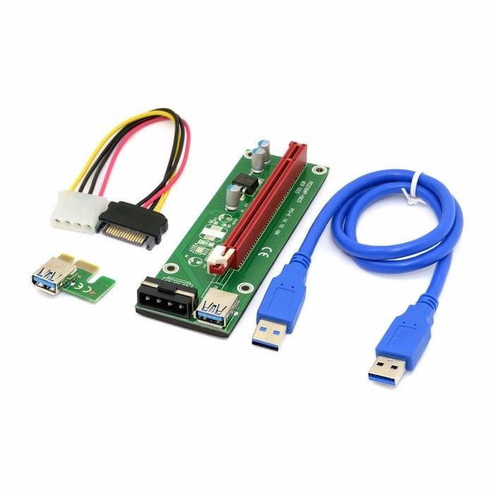 Click to Buy << 1 set PCI-E PCI Express Riser Card 1x to 16x USB ...