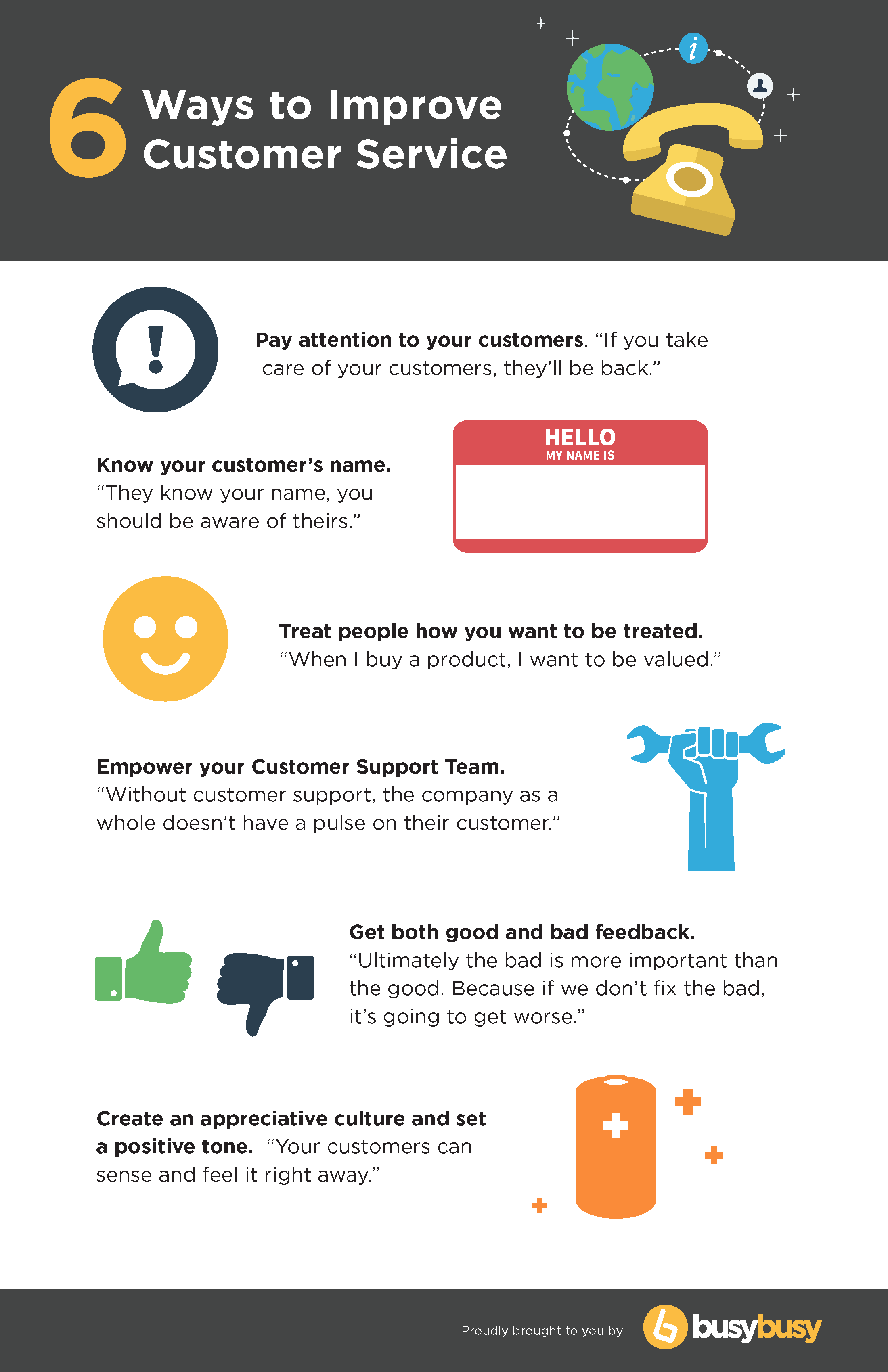 6 Rules To Improve Customer Service When Working With The Construction Industry Infographic Know Your Customer