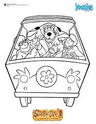 Coloriage Scoubidou à Imprimer Gratuit Scooby Doo Pattern