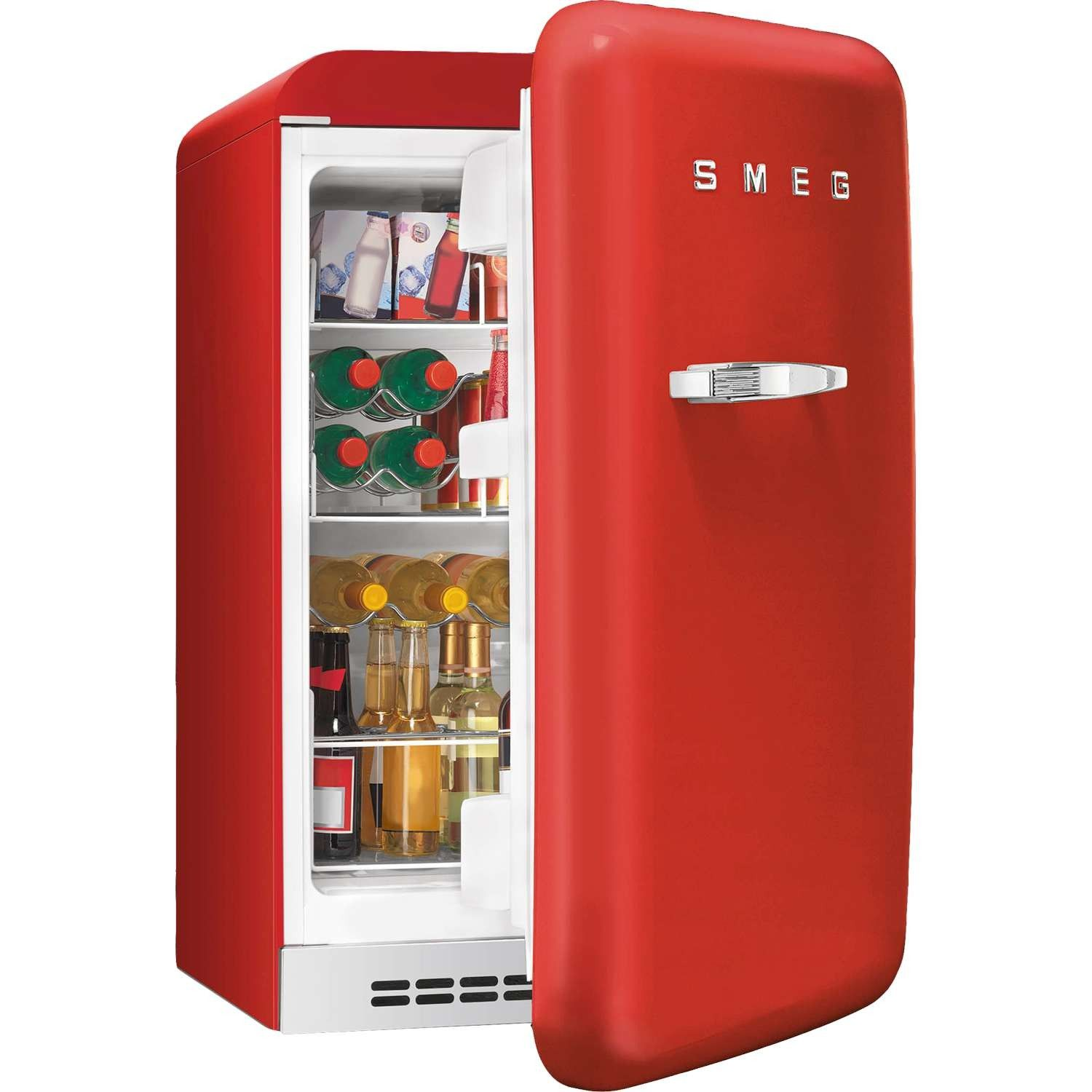 Smeg Fab10hrr 50s Retro Style Freestanding Home Bar Fridge