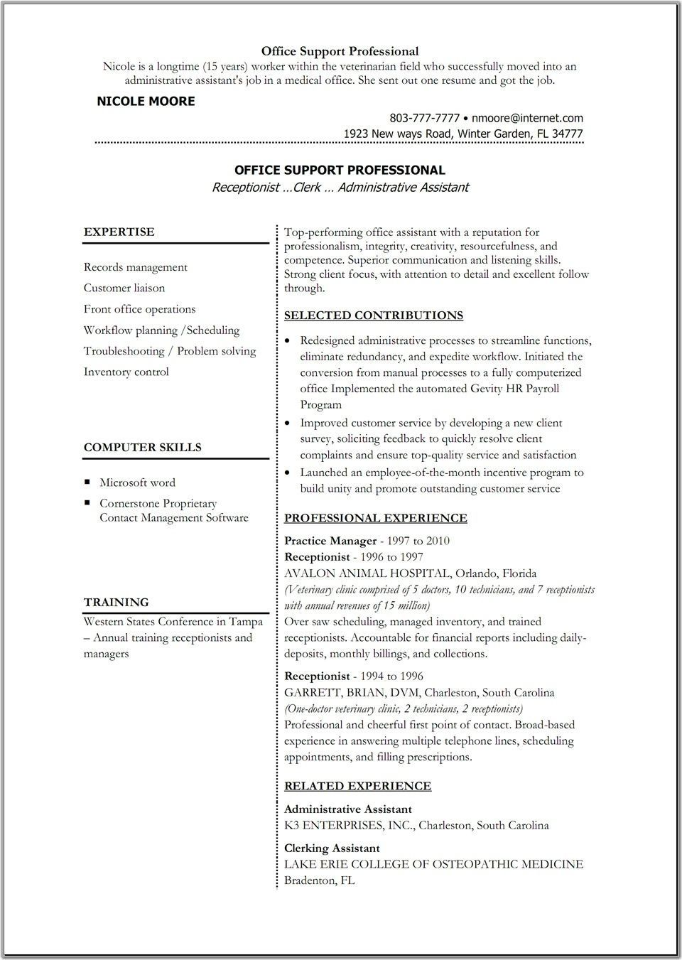 Free Professional Resume Templates Microsoft Word For Study