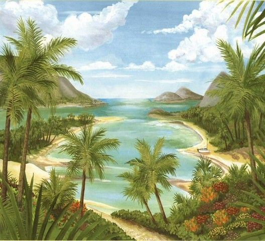 Tropical Beach   Wall Mural Part 59
