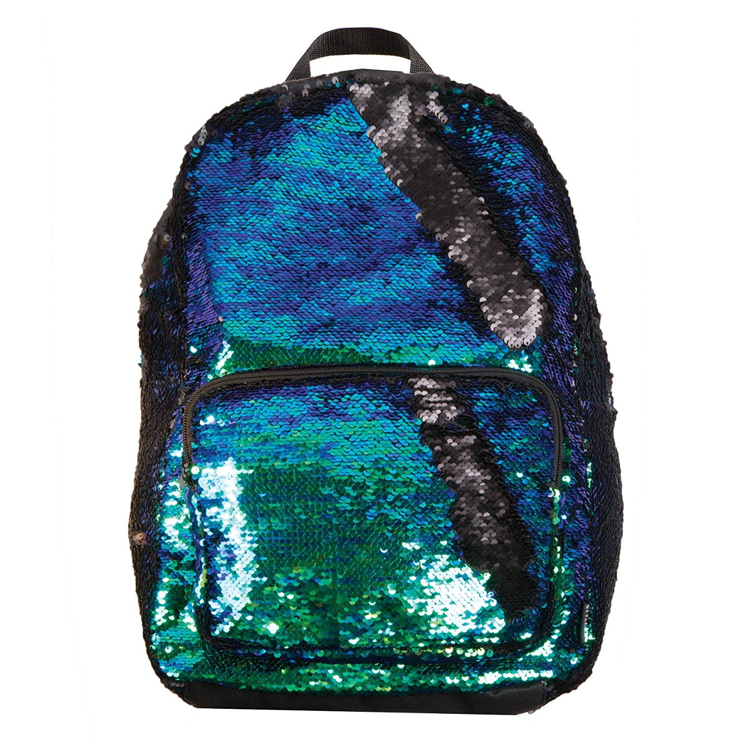 Reversible Sequin Iridescent to Black Mermaid Fashion Backpack
