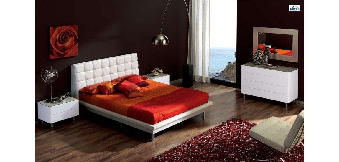 Best 603 Toledo Modern Bedroom Set In White Lacquer Modern 400 x 300