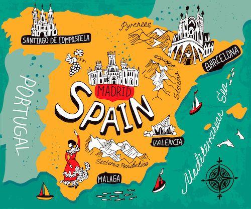 Kids Map Of Spain.Spain Map By Daria I Shutterstock Com Map Of Spain Spain