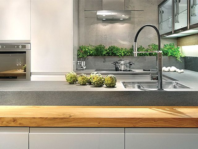 neolith basalt grey: kitchen countertops and backsplashes | housie
