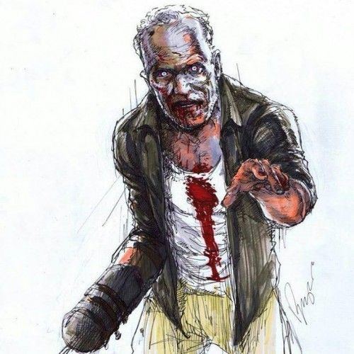Dessin Merle Zombie Photo Du Jour The Walking Dead The