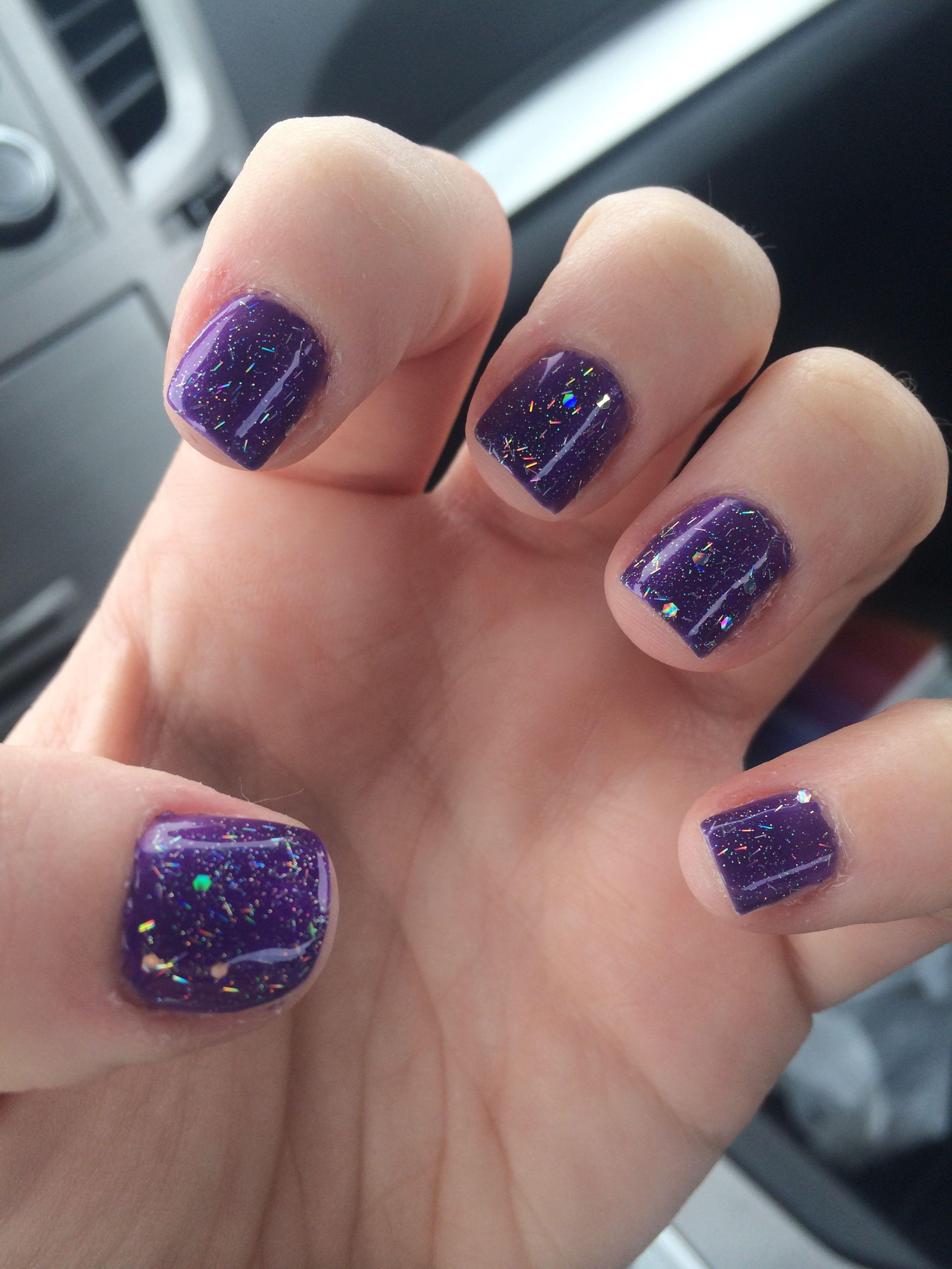 Dark purple sparkle shellac   Shellac Nails   Pinterest   Purple ...