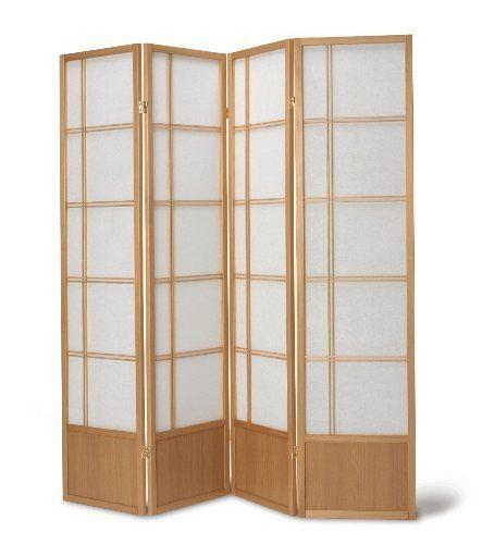 oriental fuji screen room divider in natural the futon shop https rh pinterest com Overstock Room Dividers Decorative Folding Screens Room Dividers