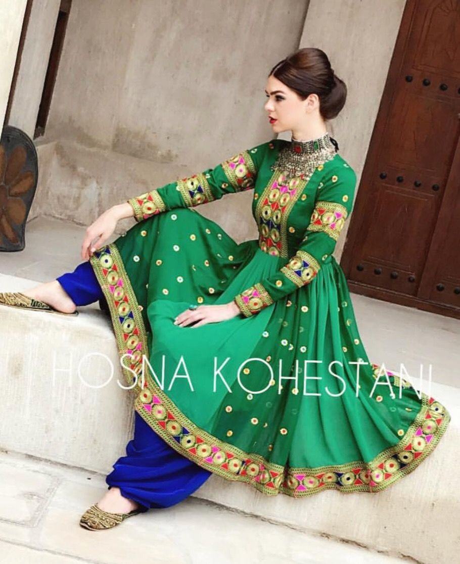 Afghani Dress Full Embroidery Afghan Traditional Dress For Mendi