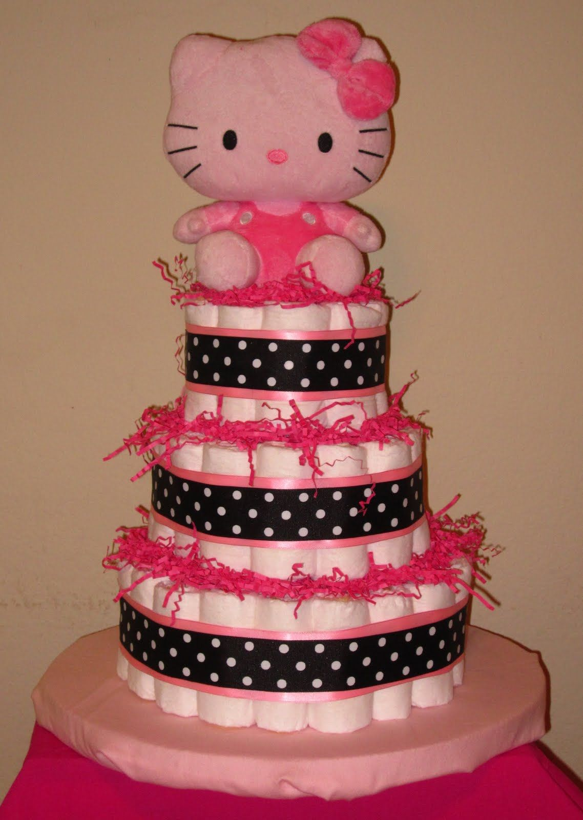 Hello Kitty Baby Shower Cake Part - 25: Baby Shower Centerpieces | Diaper Cakes By Jack: Hello Kitty