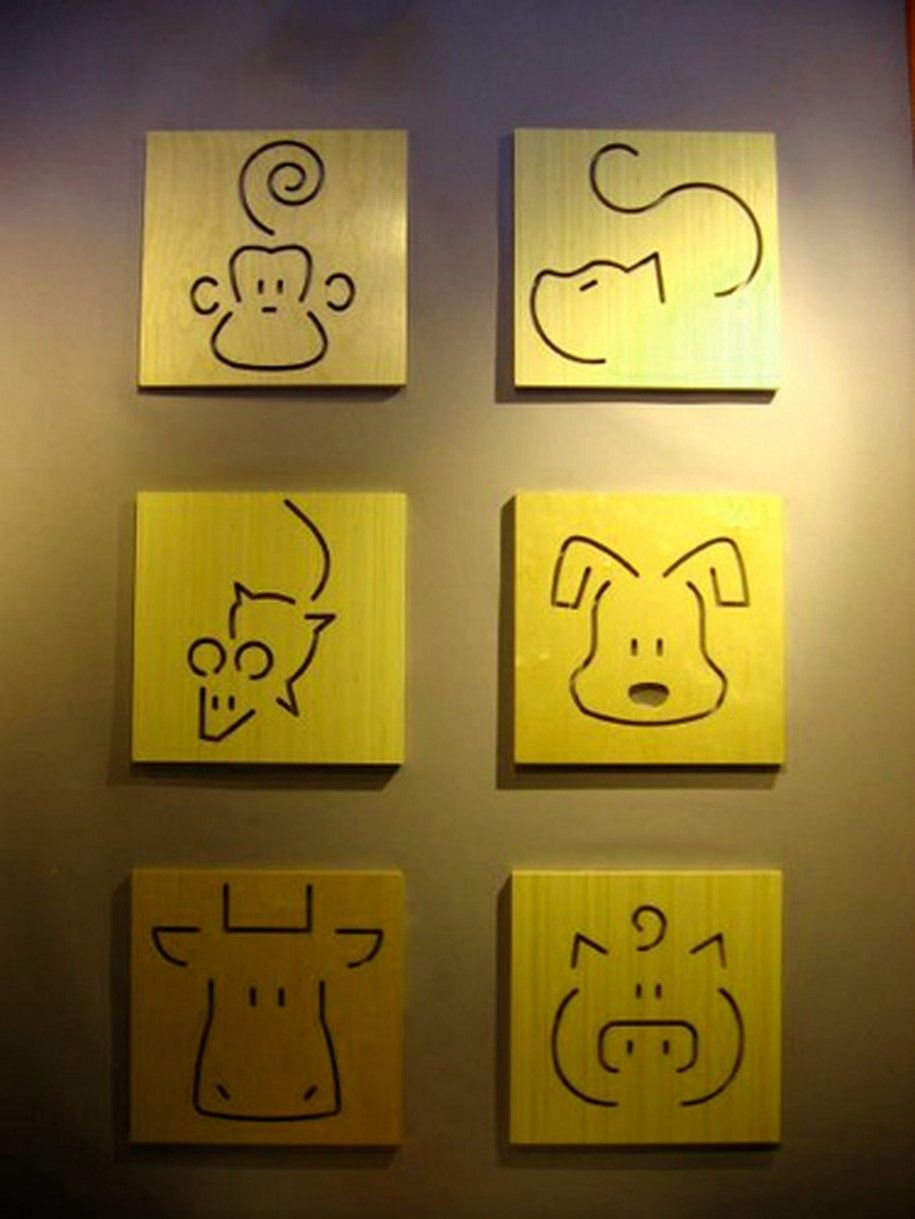 Simple Wall Décor - cute animals | When Baby Time Comes | Pinterest ...