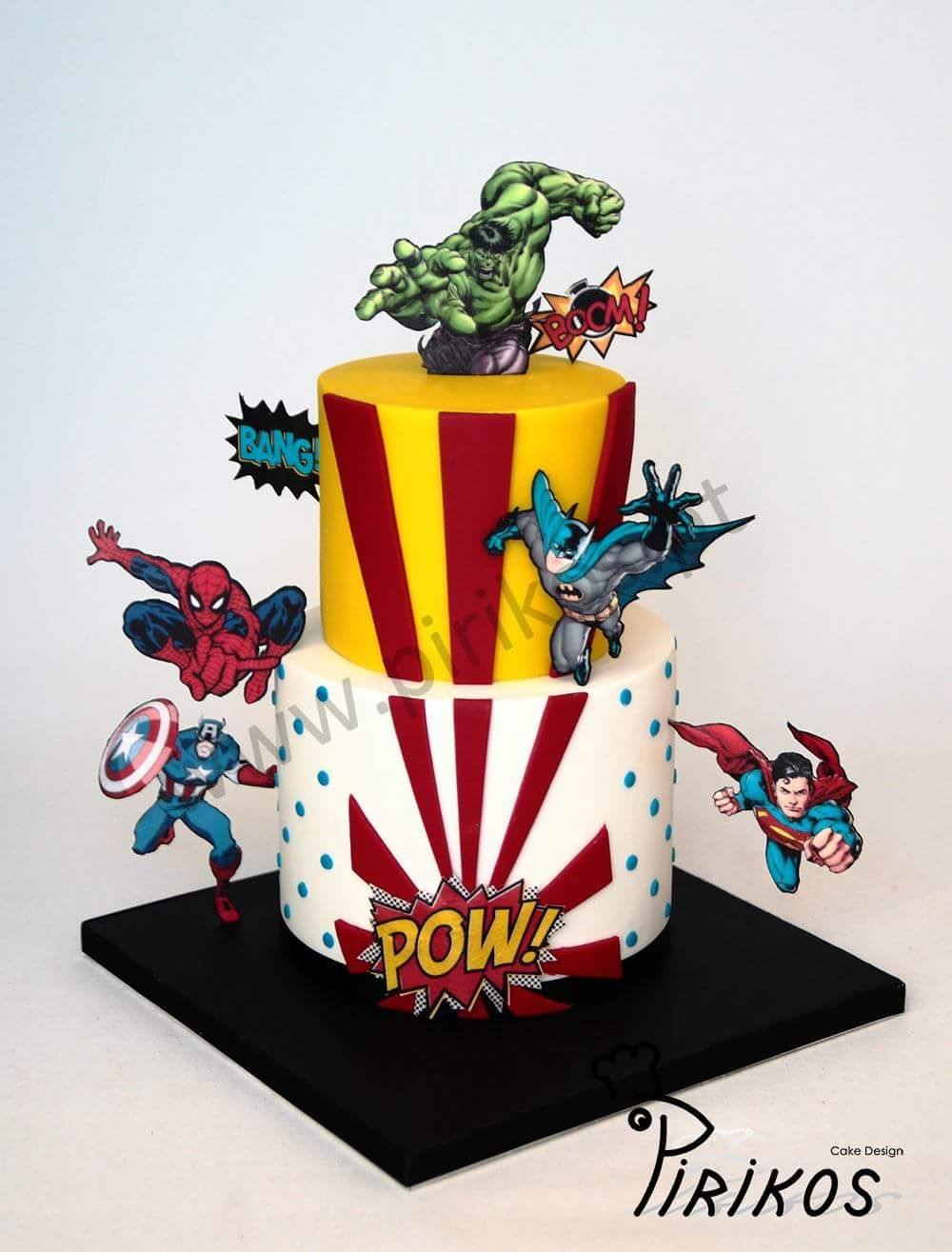 Pin by Natalie on cakes (With images) | Marvel cake ...