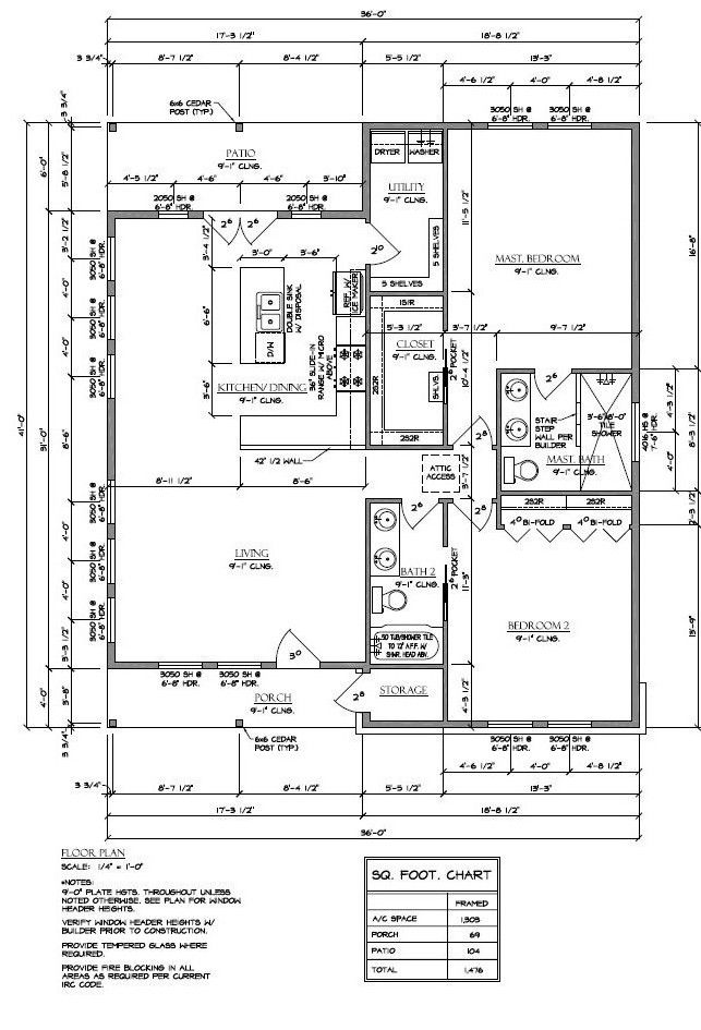 Comfortable small home plan used for