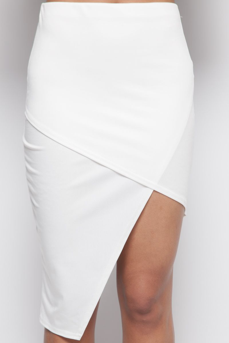 Helen White Asymmetric Skirt