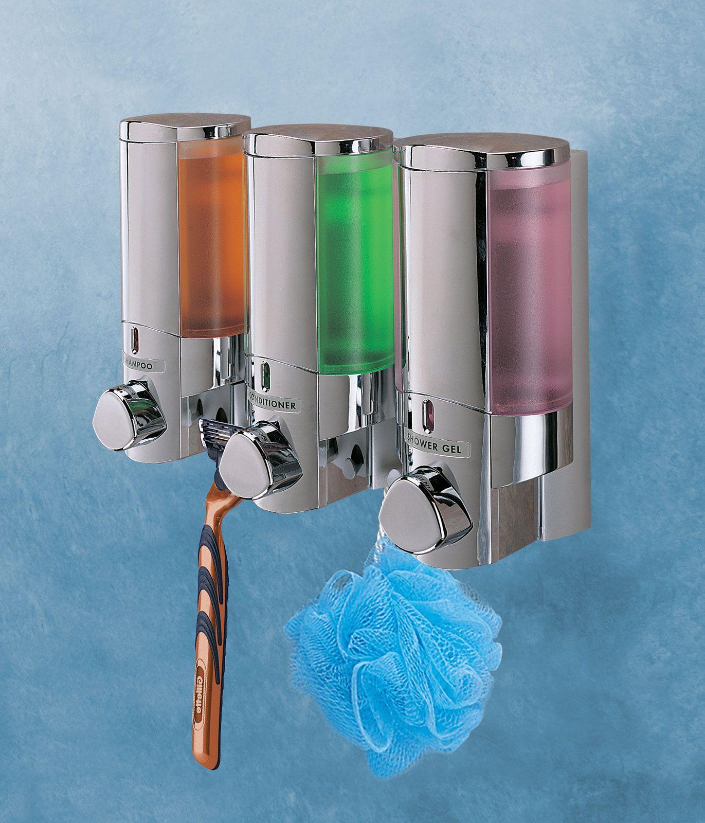 Aviva Shower Dispenser - Triple Chamber Image | Shower Shelves ...