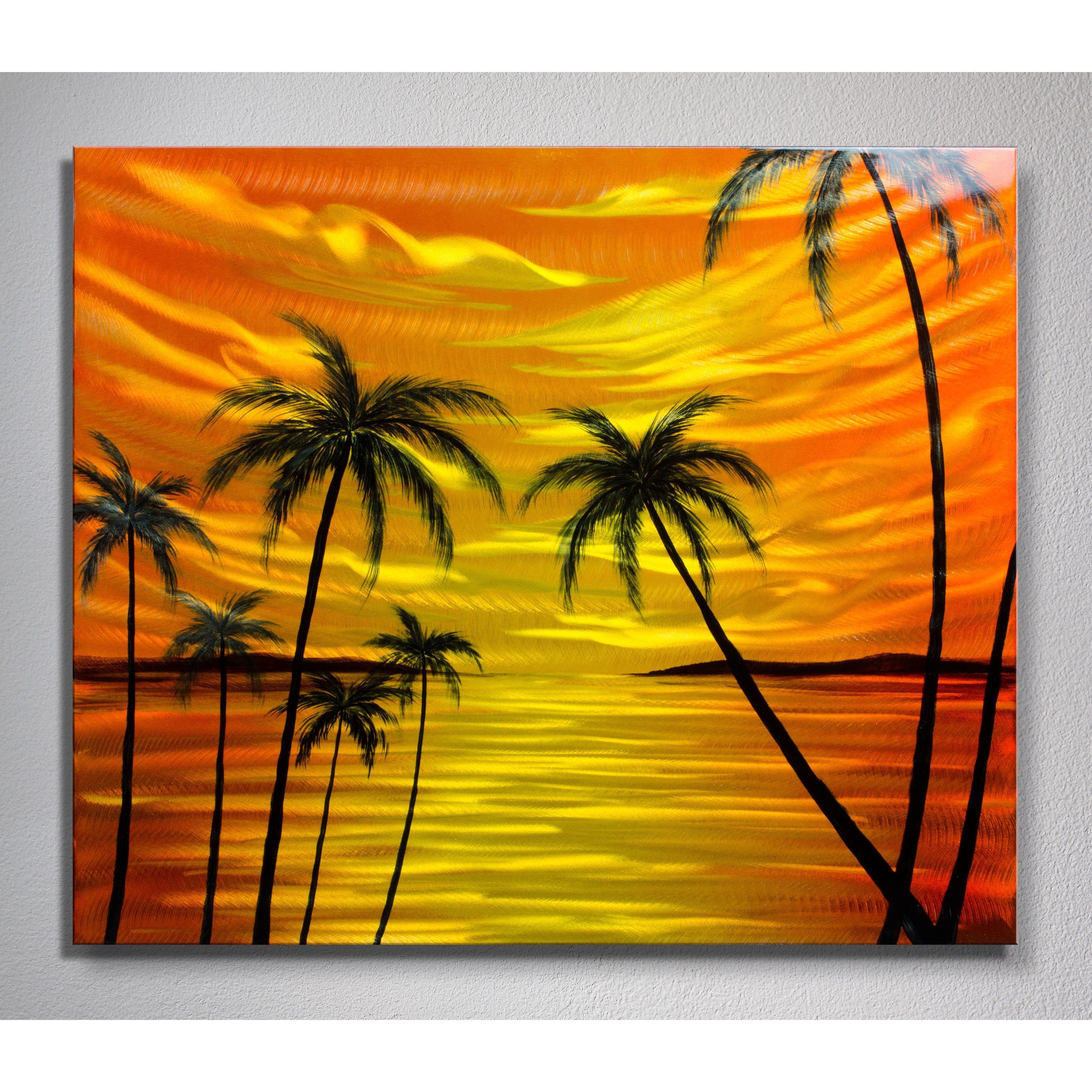 Tropical Sunset\' Metal Wall Art | Projektek 2. | Pinterest | Metal ...