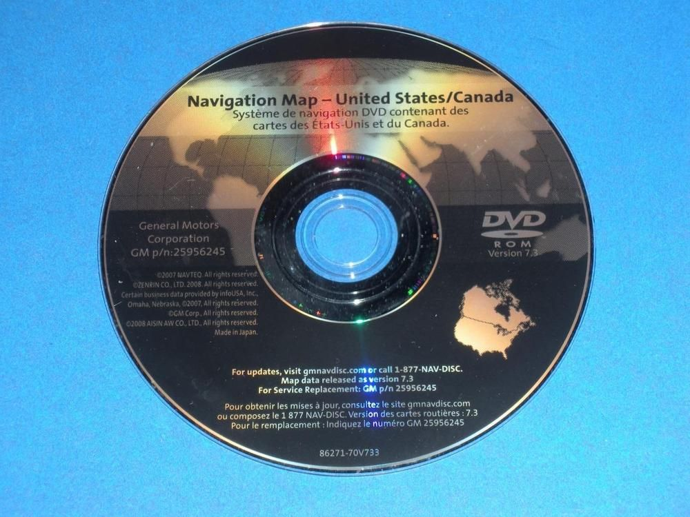 Genuine GM OEM Navigation System Map DVD North America 25956245 ...