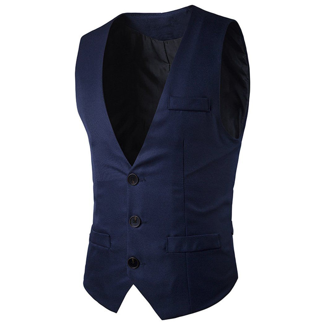menus suit vest brand causal solid color business wedding dress